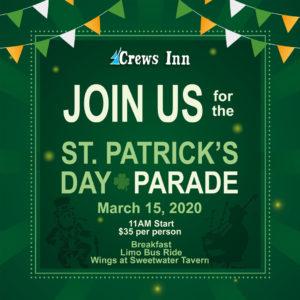 Crews Inn Restaurant st patricks day parade event